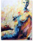 Akt Frau mit Blau