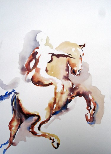 Pegasus mit Reiterin