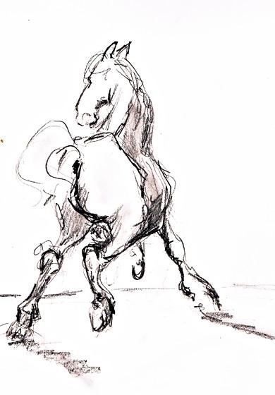 das fliehende Pferd