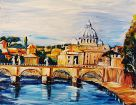 Rom, Engelsbrücke mit Vatikan
