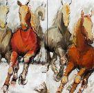 Diptychon Pferde
