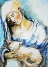 Mädchen mit Katze